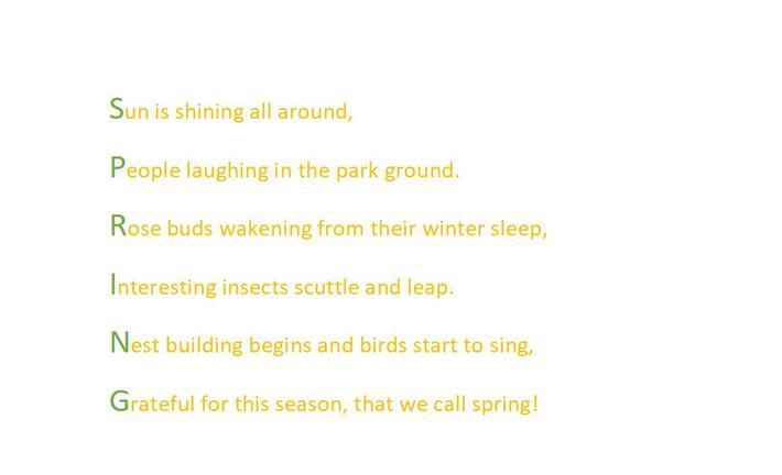 Amber's Spring poem