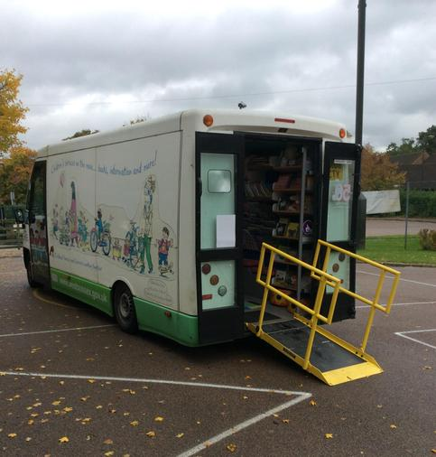 We visited the library van for songs and stories.