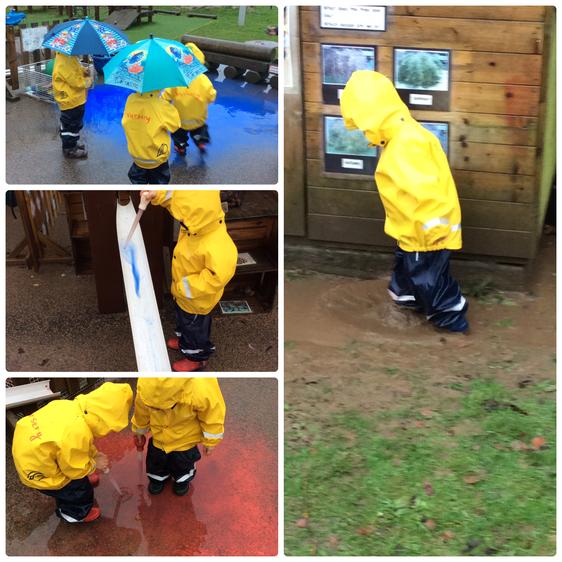 We had great fun investigating in the rain.