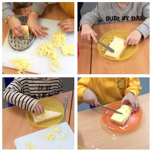 We made cheese on toast. It was yummy!