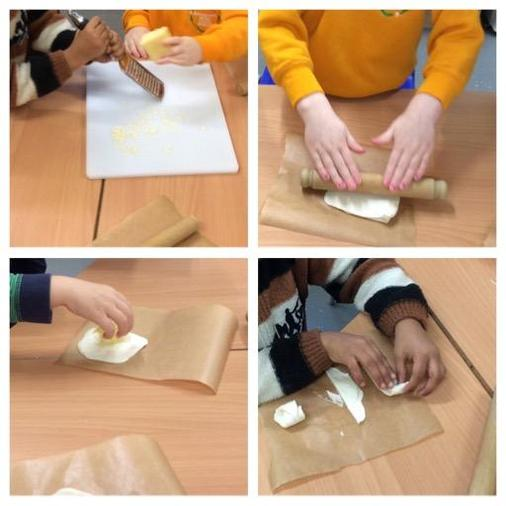 We learnt new skills and made cheese shapes.