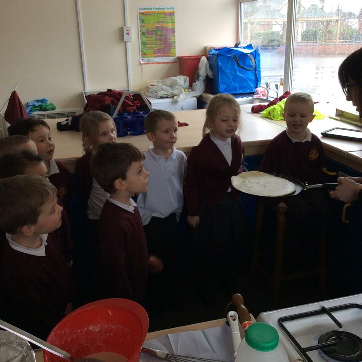 We really enjoyed tasting our pancakes. Delicious!