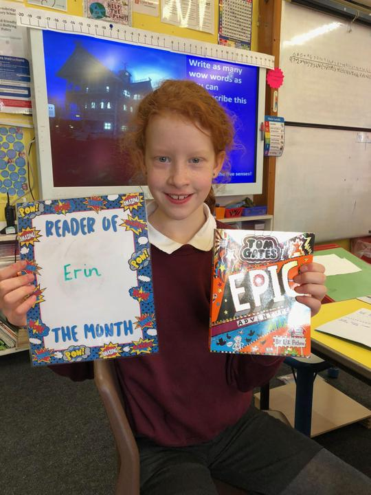 November's reader of the month! (Tom Gates prize)