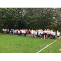 Years 4-6 on the start line - Cross country