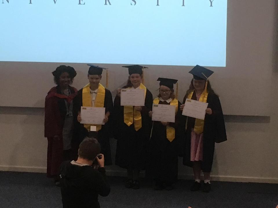 Gold Award Graduates together.