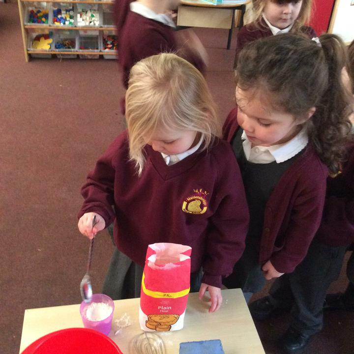 We carefully measured each ingredient.