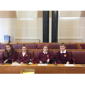 The team in the council chambers