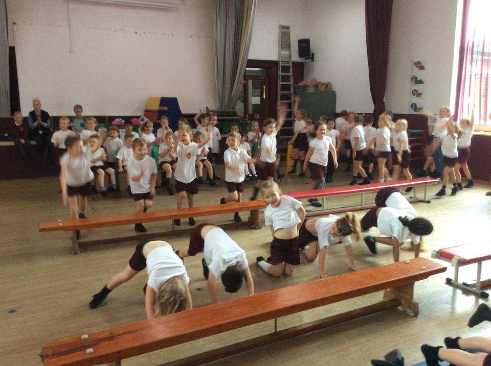 We raised lots of money for new sports equipment!