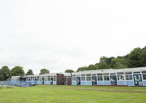 The current school, viewed from the playing field