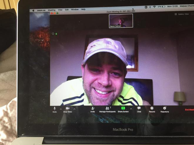 Mr Stirling and Mrs Sidnell on another conference call - planning is very different these days!
