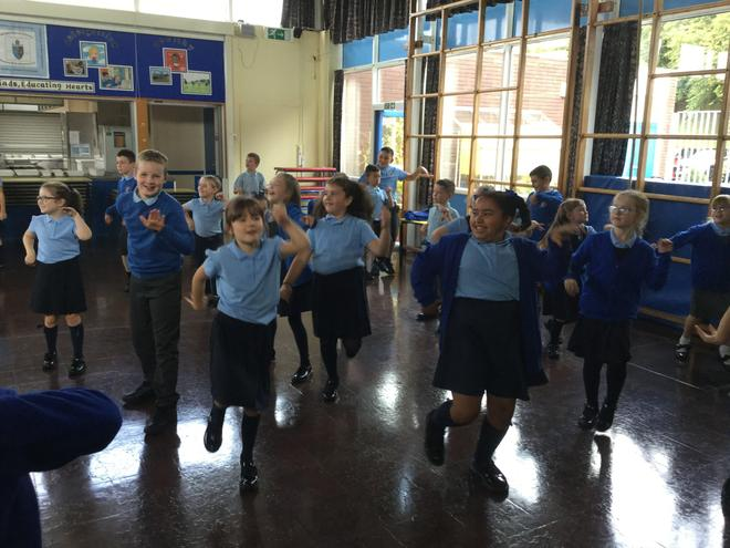 We danced to 'Walk Like an Egyptian'
