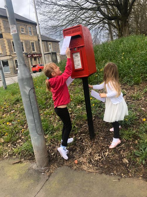 Posting a letter for the Queen.