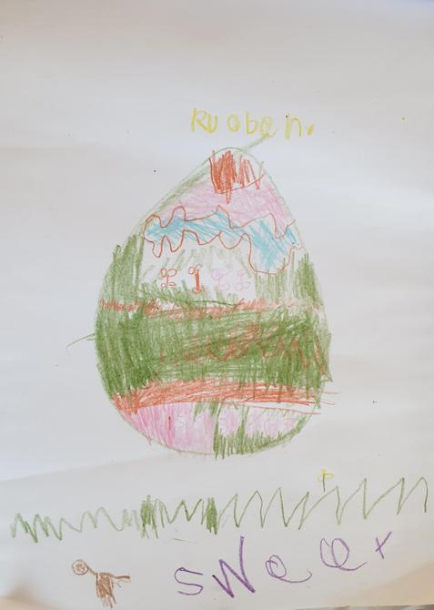 This Easter egg looks delicious. Da iawn Rueben!