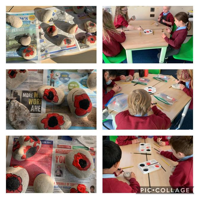 Remembrance Day Poppy Painting