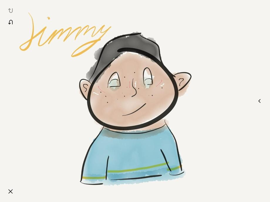 Esme's characters made on an app