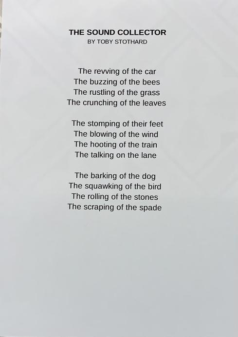 Toby's amazing Sound Collector poem