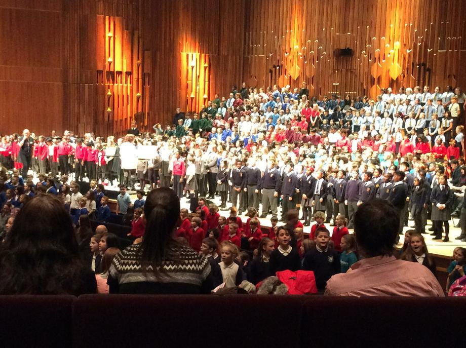 Our choir rehearsing for their big night