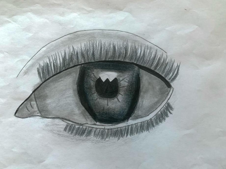 Ananya's beautiful eye sketch