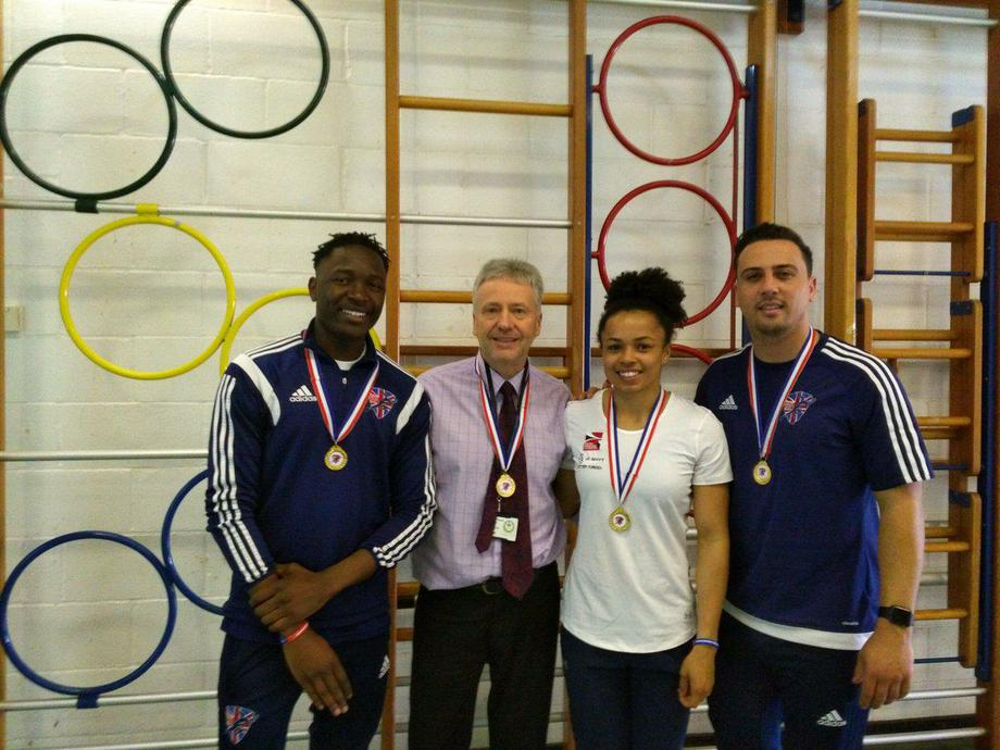 Being inspired by meeting British athletes