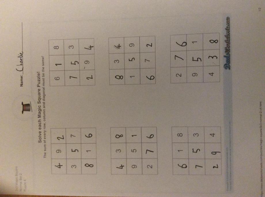 Charlie's maths challenge!