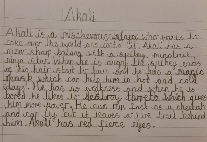 Alex's villain description