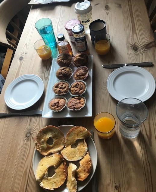 Evie's breakfast bake off!