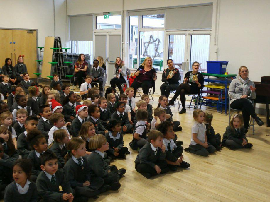 Singing together at the end of term
