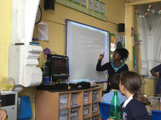 Teaching Y6 some Swahili words and songs!