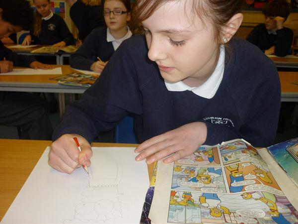 Creating our own imaginative comic strips!