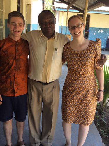 Our new Tanzanian outfits, with Mr Mteta