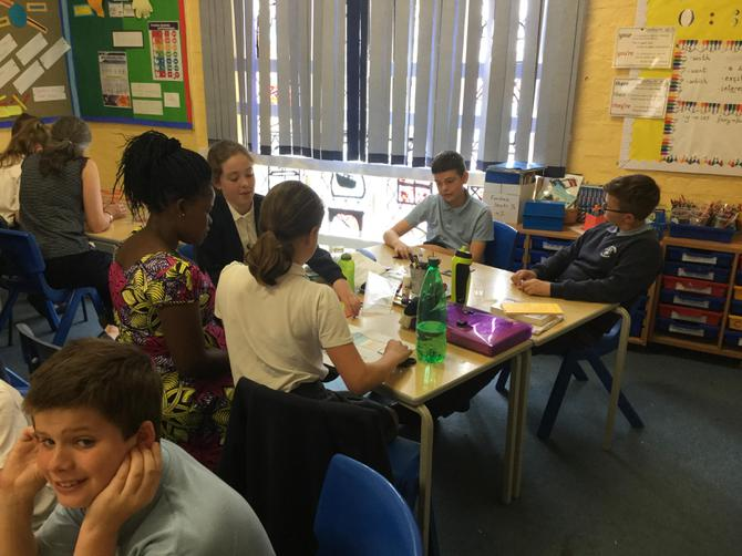 Madam Mnkai playing Maths games in Y6.