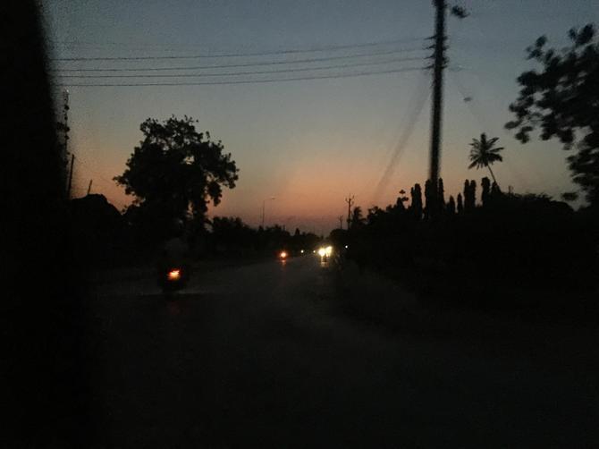 The beautiful sunset at 6.30pm