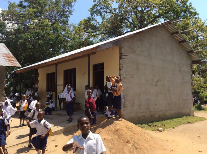 The new classroom (outside)