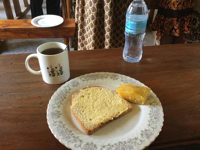 Tea break - sweet potato and bread today
