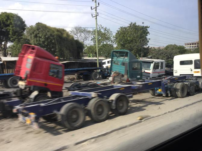 There are loads of lorries in Dar Es Salaam