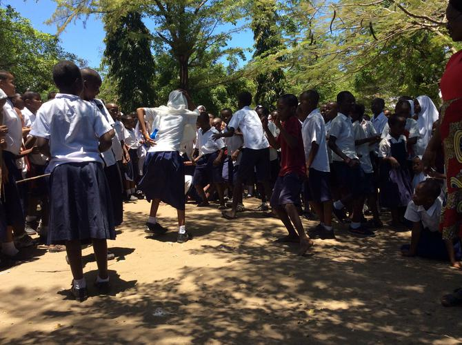 Children also performed songs and danced for us.
