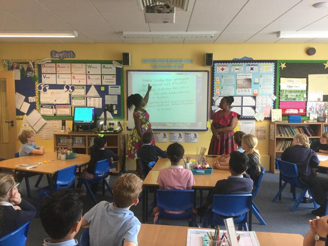 Teaching Y4 some Swahili songs!
