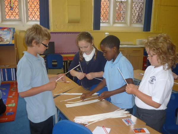 Working together to make bridges from Artstraws
