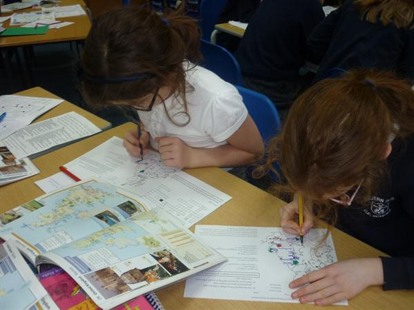 Working hard with maps!