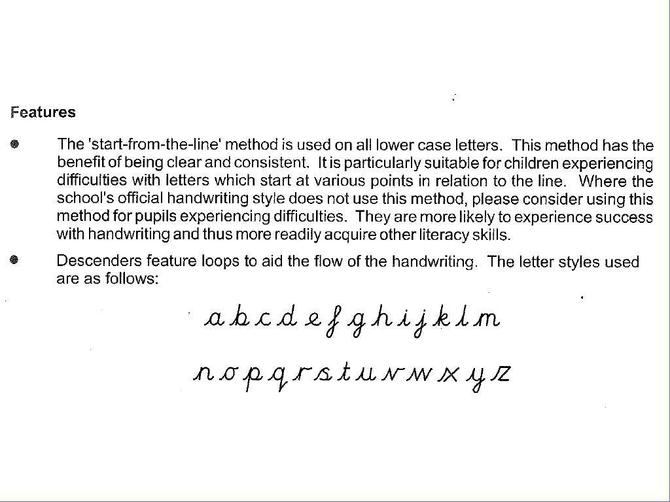 Please see the formation of the letters.