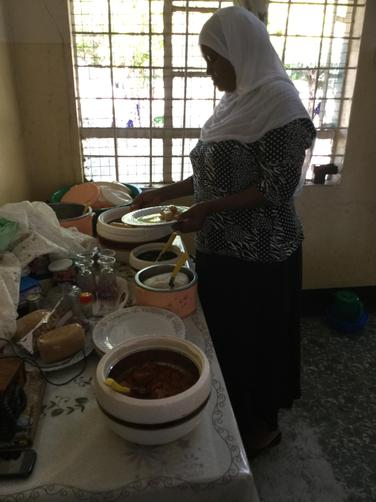 Lunch time for us in Madam Msembo's office