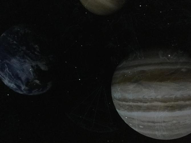 We had close-up views of the planets...