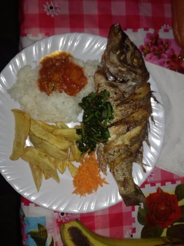 A very popular Swahili meal with Changu fish.