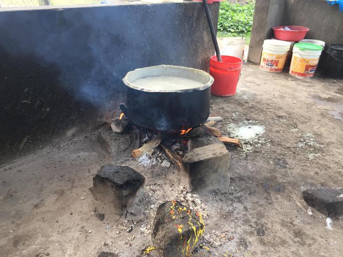 The school kitchen where ooji isn't prepared.