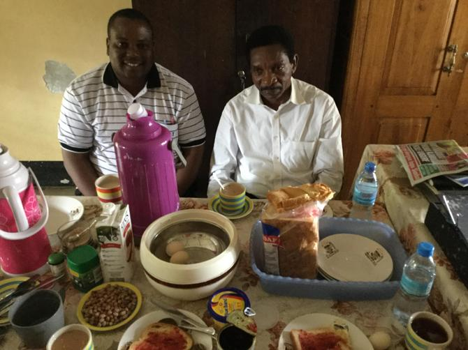 Tea time with Mr Mwandoro (Chair of Governors)