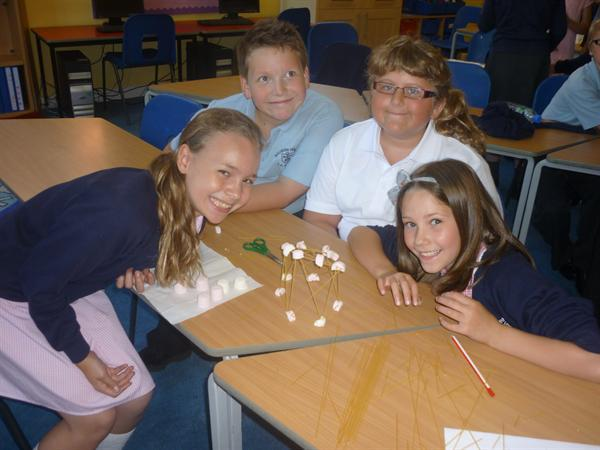 Marshmallow towers (and a sticky mess!)`