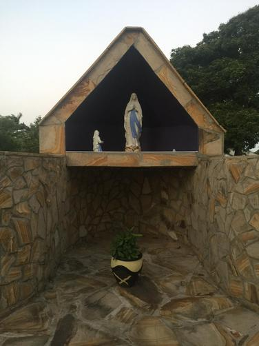 A shrine in the garden.