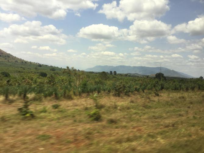 The Usambara mountain range in the distance