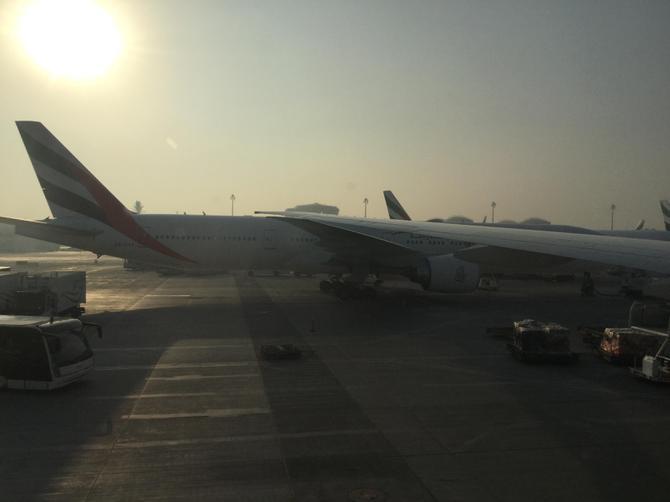 A beautiful, if very hot, morning in Dubai.