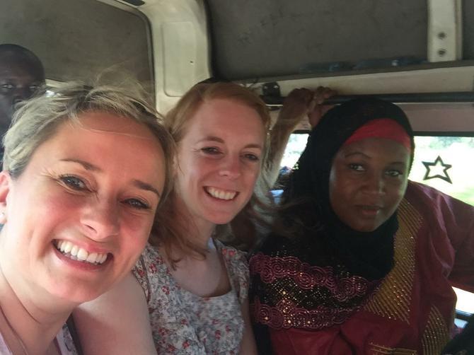 On the dala dala bus with Madame Msemo